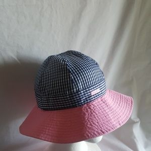 EUC Kangol girls gingham rain lola hat